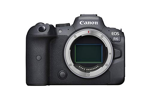 Canon EOS R6 Full-Frame Mirrorless Camera with 4K Video, Full-Frame CMOS Senor, DIGIC X Image Processor, Dual UHS-II SD Memory Card Slots, and Up to 12 fps with Mechnical Shutter, Body Only