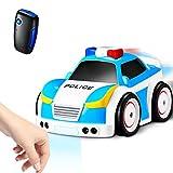 【Technologie Récente】 RC Voiture Police Inductif, Voiture Enfant Sonore, Voiture Telecommandé--4 Modes--Suivre-Movement, Suivre-trajectoire,...