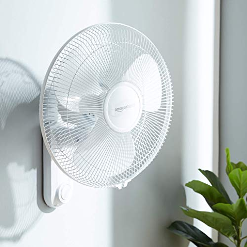 AmazonBasics High Speed 55 Watt Wall Fan for Cooling with Automatic Oscillation (400 MM), White