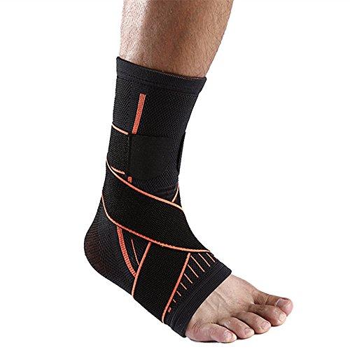 SOFIT Tutore Caviglia, Fascia di Sostegno per Fitness, Pallacanestro, Tennis, Supporto Antiscivolo alla Caviglia Super Traspirante Elastico - Supporto per Caviglia da Uomo e Donna