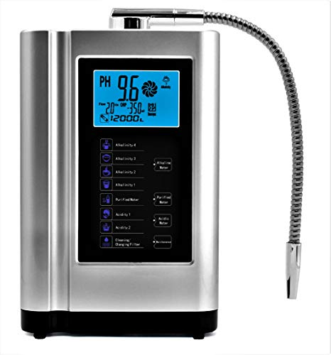 Product Image 1: Alkaline Water Ionizer, Up to -500mV ORP, PH 3.5-10.5 Water Purifier Machine, Home Alkaline Water Filter with 7 Water Settings, 6000 Liters Per Filter,Auto-Cleaning,Intelligent Voice (Silver)