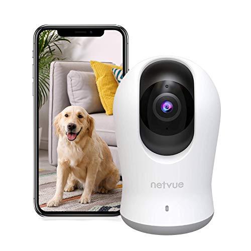 Cámara Wi-Fi para interiores - 3K 3MP Super HD 360 ° Pan Surveillance Camera con PTZ 8X Zoom, Cámara IP de vigilancia Wifi, Visión nocturna, Audio bidireccional, Detección humana AI