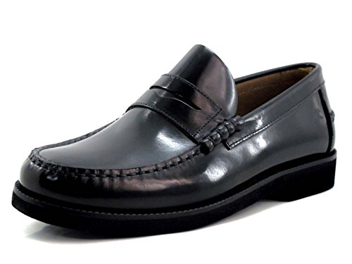 Fluchos Stamford, Mocasines (Loafer) para Hombre, Negro (Negro 000), 45 EU