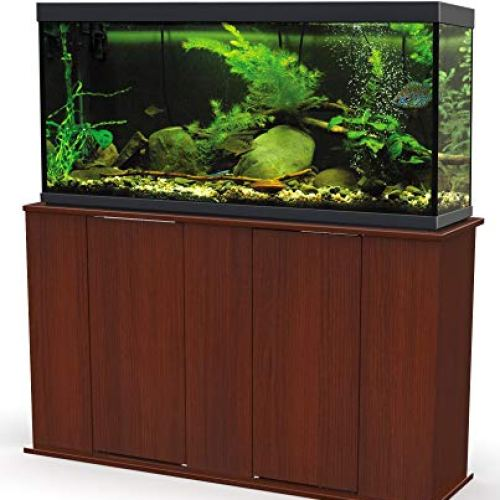 Aquatic Fundamentals, 55 Gallon, Serene Cherry Upright Aquarium Stand, Made in The USA