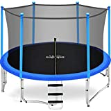 Zupapa 15FT 14FT 12FT 10FT 8FT Kids Trampoline 425LBS Weight Capacity with Enclosure net Include All Accessories Outdoor Backyard Trampoline(15FT)