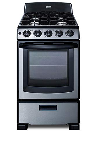 Summit PRO201SS 20 Inch Gas Freestanding Range in Stainless Steel