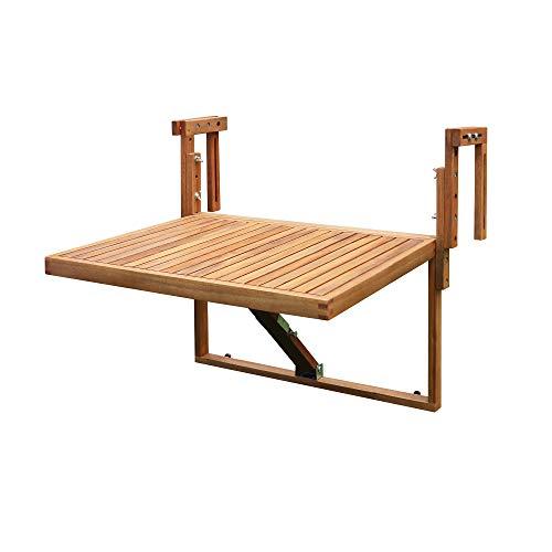 Interbuild Toronto Balkon- / Decktisch 70 cm x 60 cm, klappbar, für Geländer