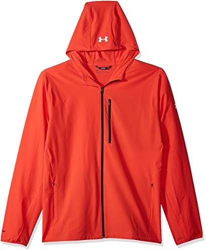 Under Armour Men's OUTRUN THE STORM v2 Jacket, Radio Red/Reflective, Small