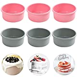 Silicone Cake Mold Baking Pan Round 4 Inch Non-Stick Bakeware Pan Reusable Cake Tray, Set of 6