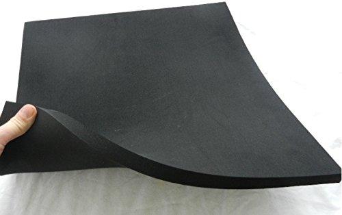 (63,60 €/m²) Zellkautschuk,ca. 50 x 50 x 2 cm, Moosgummi Polster Motorradsitz Höcker, schwarz