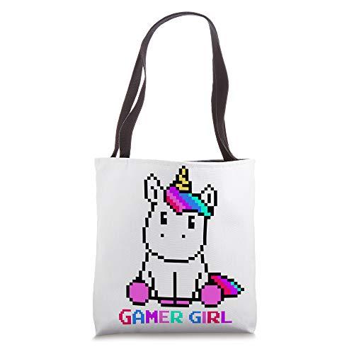 Kawaii Unicorn 8-Bit Video Games Character Gamer Girl Gift Tote Bag