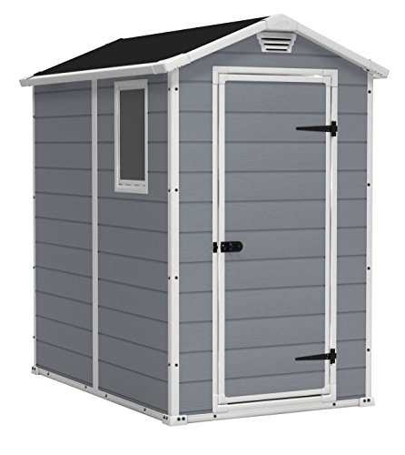 KETER Manor 4x6 Resin Outdoor Storage Shed Kit-Perfect to Store Patio...