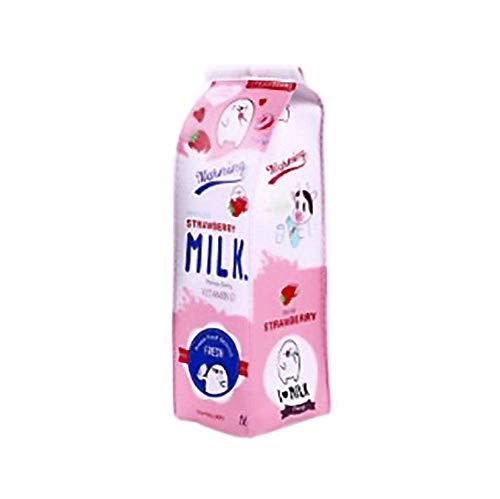 Astuccio per penne a forma di scatola di latte Astuccio per penne Astuccio fisso Astuccio per matite per penna Astuccio per cancelleria Custodia Astuccio per studenti Forniture per ufficio Rosa Ele