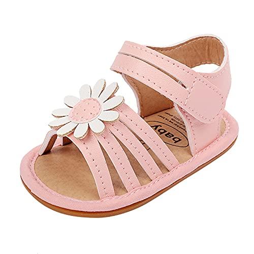 Sandalias niña bebé con Flor Precioso con Punta Abierta Zapatos bebé Verano de Playa Feroz para Caminar Zapatos Bebe Primeros Pasos para niñas pequeños Antideslizante cómodos Zapatos biomecanics
