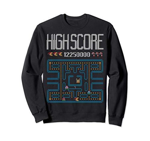 Highscore Retro Arcade Video Gamer Ugly Christmas Sweater Sweatshirt