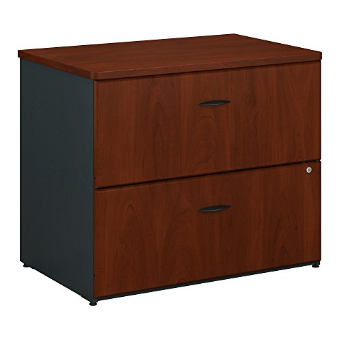Bush Business Furniture Series A 36W Lateral File Cabinet in Hansen Cherry and Galaxy
