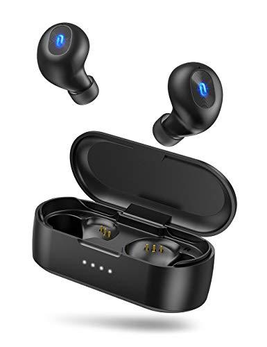 TaoTronics ワイヤレス イヤホン Bluetooth 5.0 【MCSync左右同時伝送 ホールスイッチ IPX7防水 ライトニン...