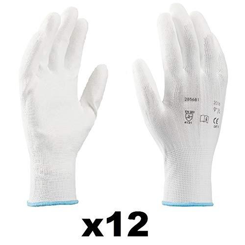 Guanti da lavoro (12 paia) - Guanti di montaggio antiscivolo senza cuciture - comodi, ideali per...