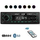 ieGeek Autoradio Bluetooth Mains Libres Fond 7 Couleurs, LCD avec Horloge,...