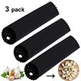 Silicone Garlic Peeler, 3 PCS Silicone Garlic Roller Peeling Tube Tool for Useful Kitchen Tools(Black)