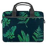 Bolso bandolera para portátil de 14,5 pulgadas, hojas de diferentes formas, bolso de hombro, bolso de mano, para mujeres y hombres