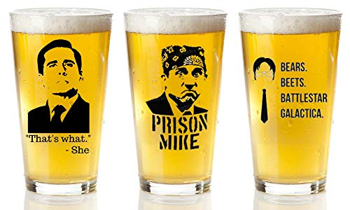 The Office Merchandise 3-Pack beer Glasses Set