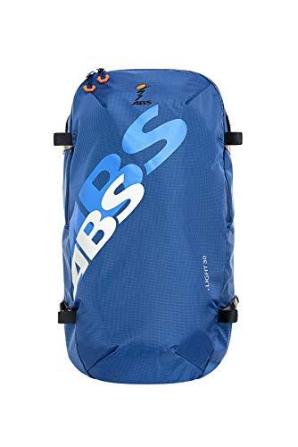 ABS Unisex– Erwachsene Lawinenrucksack Zip-On 30, Packsack für P.Ride Compact und S.Light Base Unit, 30L Volumen, Fach für Sicherheitsausrüstung, Ski-und Snowboardhalterung, Helmnetz, Glacier Blue
