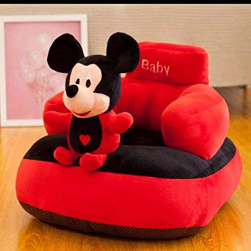 Homescape Baby Soft Plush Cushion Baby Sofa Seat Or Rocking Chair for Kids(Use for Baby 0 to 2 Years)-Red and Black(Top Quality)