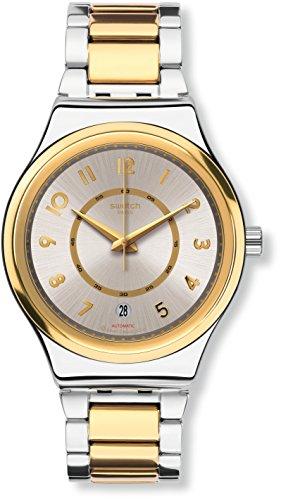 Swatch Damen Digital Automatik Uhr mit Edelstahl Armband YIS410G