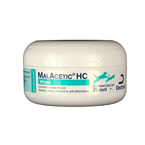 DechraSupply MalAcetic HC Wipes for Dogs & Cats...
