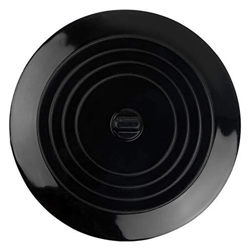 Stöpsel Spülbecken, Ø 15 cm, Schwarz, aus Silikon, für alle Abflüsse bis 120 mm, perfekt für Küche und Bad, Ablaufstöpsel, Abflussstopfen Spülbecken, Ablaufstopfen Küche, Abflussstöpsel Waschtisch