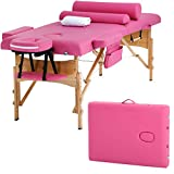 Massage Table Massage Bed Spa Bed Height Adjustable 2 Fold Portable 73...