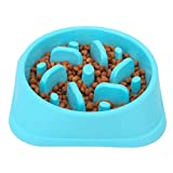 ☀【PROMOTES FUN & HEALTHY DIET】: The fun feeder slo-bowls promote healthy eating, swirl flower pattern design can slow down rapid eating and stop choking, adjust pet weight, prolonging meal time prevent indigestion, interactive and fun feeder. Eat slo...