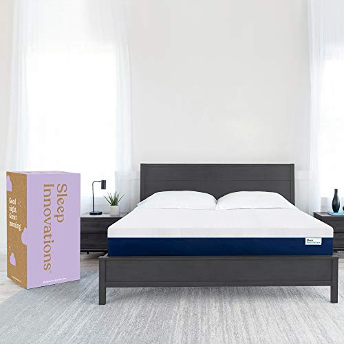 Sleep Innovations Marley Queen 12 Inch Cooling GelMemory Foam Mattress ina Box - Made in USA - MediumFirm - Pressure Relieving