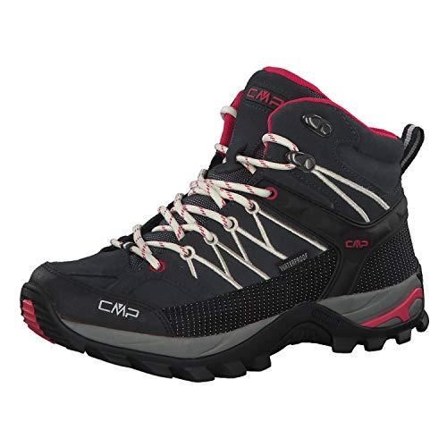 CMP Rigel Mid Wmn Trekking Shoe WP, Scarpe da Arrampicata Alta Donna, Grigio (Antracite-off White 76uc), 38 EU