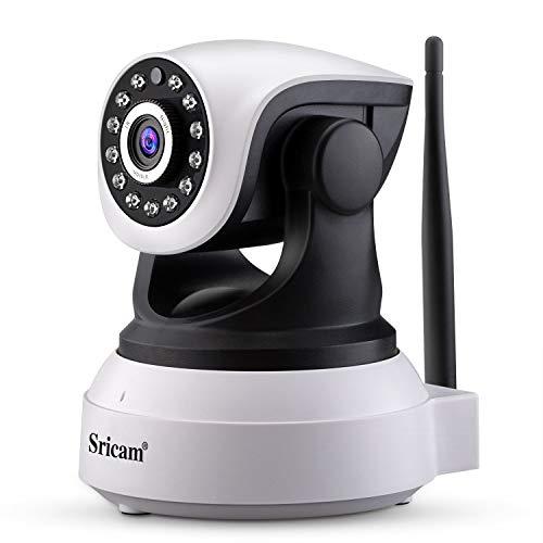 Sricam SP017 telecamera wi-fi interno senza fili 1080P telecamera videosorveglianza wifi telecamera sorveglianza wifi videocamera Audio Bidirezionale, Modalità Notturna a Infrarossi, Bianco