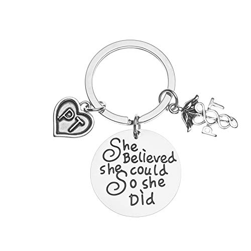 Physical Therapist Believed She Could So She Did Keychain,...