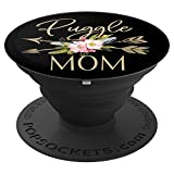 Puggle Mom, Puggle Mama, Dog Mom PopSockets Grip and Stand for Phones and Tablets