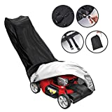 Tvird Lawn Mower Cover-Premium Oxford Light Duty Push Mower Cover,Anti UV&Mildew&Dust&Water Universal Fit Size with Drawstring,Storage Bag and Buckle(Black)