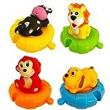 Juguetes de Baño con Forma de Animales para Bebés y Niños  Set de 4 Animales Marinos de Juguete...