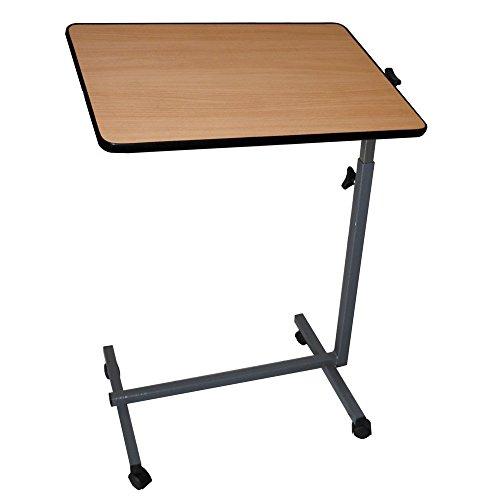 Easy, Tavolino multiuso, Tavolino a rotelle pieghevole, Leggero, Multiuso, Color Legno