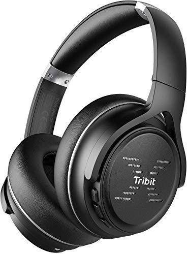 Tribit Bluetooth Kopfhörer Over-Ear, kopfhörer kabellos mit Bluetooth 5.0, HiFi-Sound mit tiefen Bässen, 24 Stunden Spielzeit, CVC8.0 microphone Freisprechen für Smartphone/PC, Schwarz