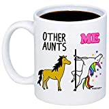 MyCozyCups Gifts For Aunts - Other Aunts Me Unicorn Coffee Mug - Funny Unique 11oz Cup For Auntie, Sister, Favorite Aunticorn From Niece, Nephew - Birthday, Christmas, Appreciation Gift For Her, Women