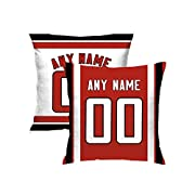 Custom Football personalized Pillow Cases Covers is easy! Add a note to your order Player name and Number, We'll handle the rest. The processing time is about 5-7 days to prepare your order. Print personalized select any name & any number Material:10...