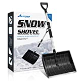 MOVTOTOP Snow Shovel, Folding Shovel for Digging Snow with 47.2' Adjustable Aluminum Handle, Detachable 3 Piece Design, Compact Snow Shovel for Car Driveway, Home, Camping and Outdoor Emergency
