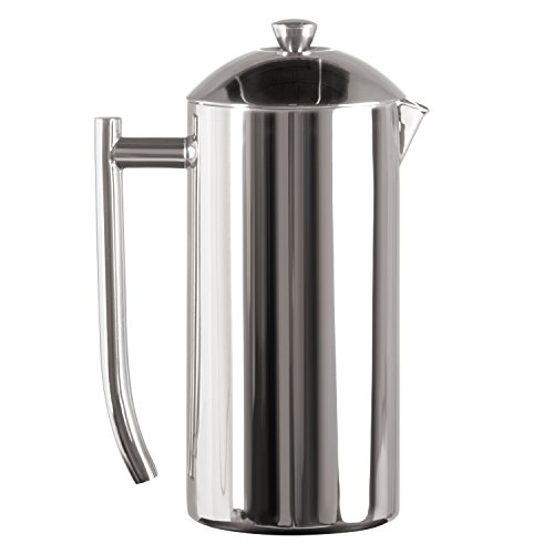 Frieling USA Double Wall Stainless Steel French Press Coffee Maker with Zero Sediment Dual Screen, Polished, 36-Ounce