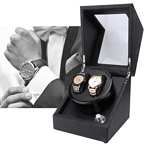 PBZYDU Double Watch Winder, Automatic Watch Winder Box for Wristwatch Mechanical Watch