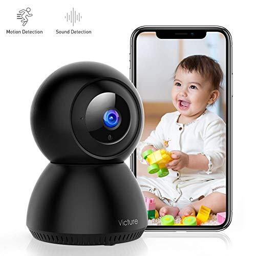 Victure 1080P Baby Monitor con Rilevamento del Suono FHD Telecamera Wifi di Sorveglianza Interna con Visione Notturna, Monitoraggio del Movimento