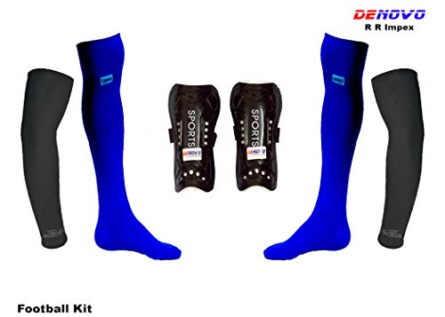 DeNovo Football Socks Shin Guard Arm Sleeves Kit