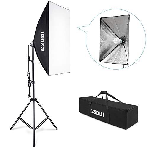 ESDDI Softbox Set Luci Studio Fotografico Luce Continua Studio Kit 85W Lampade Fotografia Soft Box...